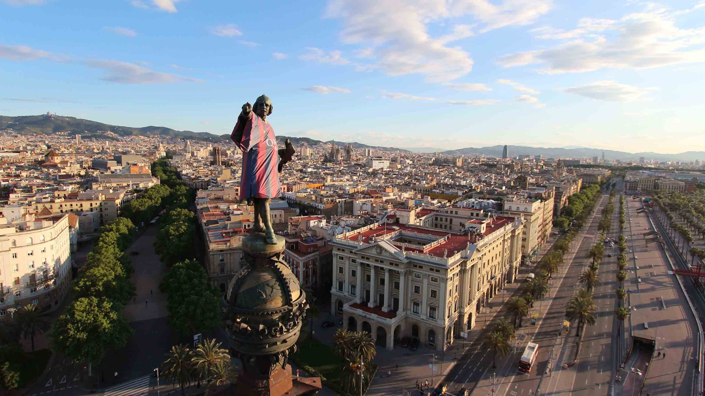 Красивый вид Барселоны