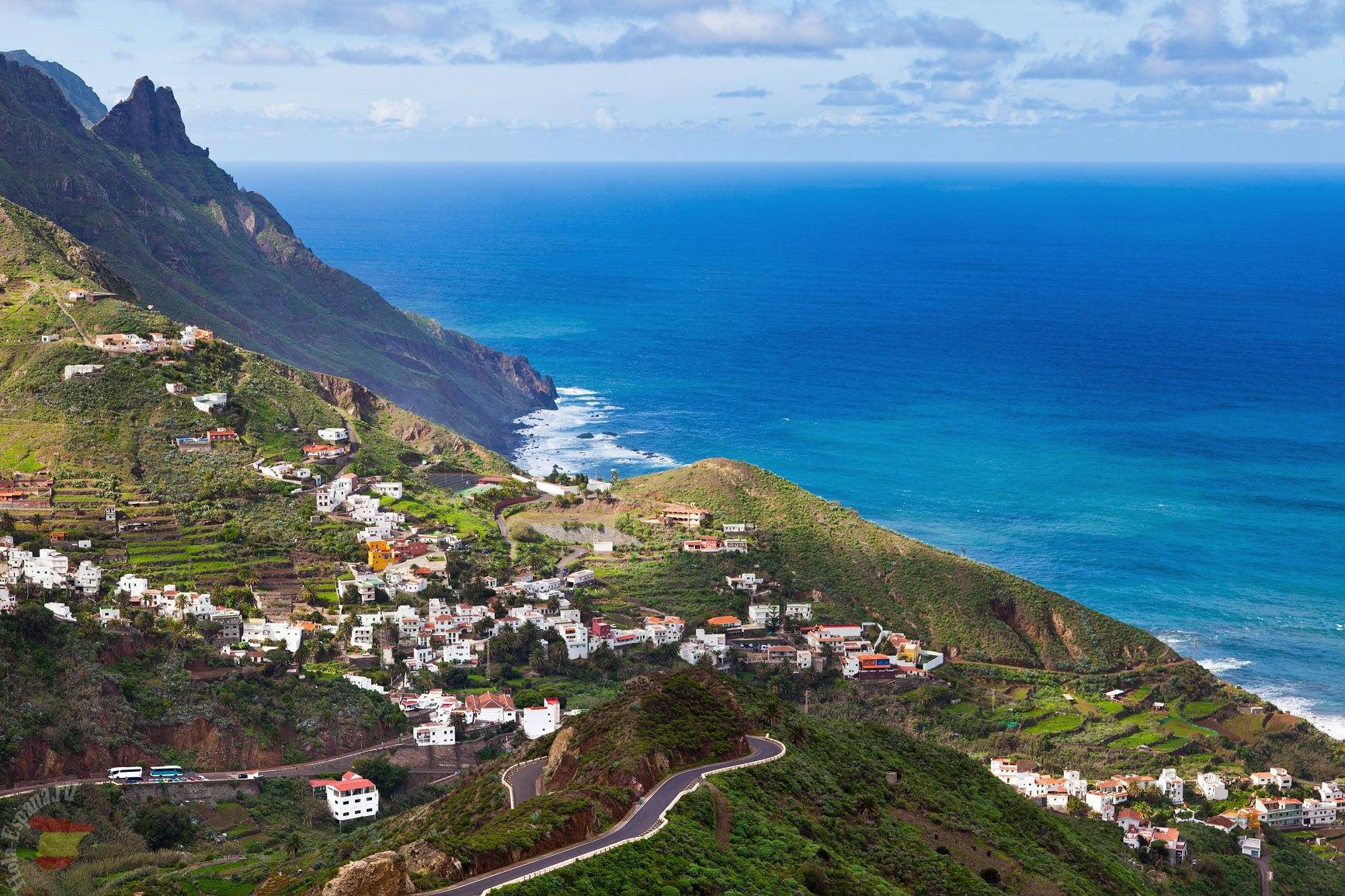 Красивый пейзаж Тенерифе