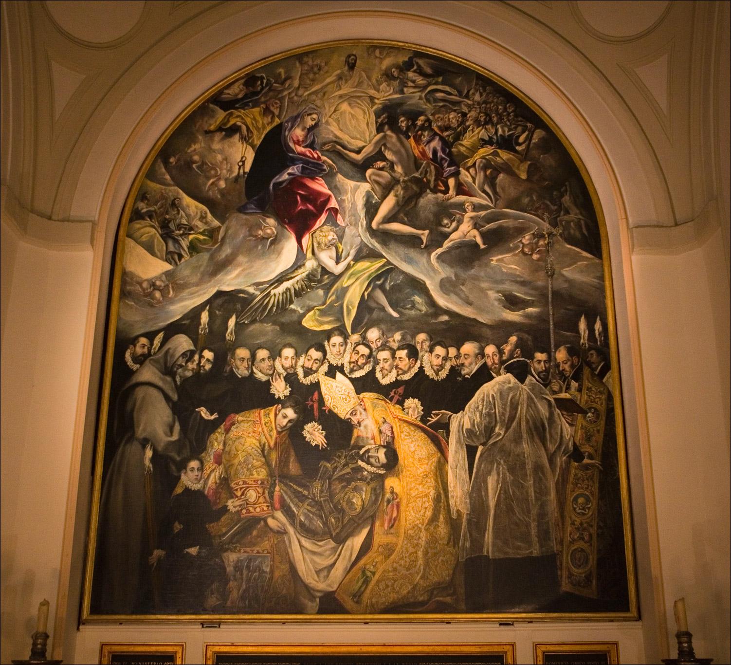 Эль Греко в церкви Сан-Томе в Толедо