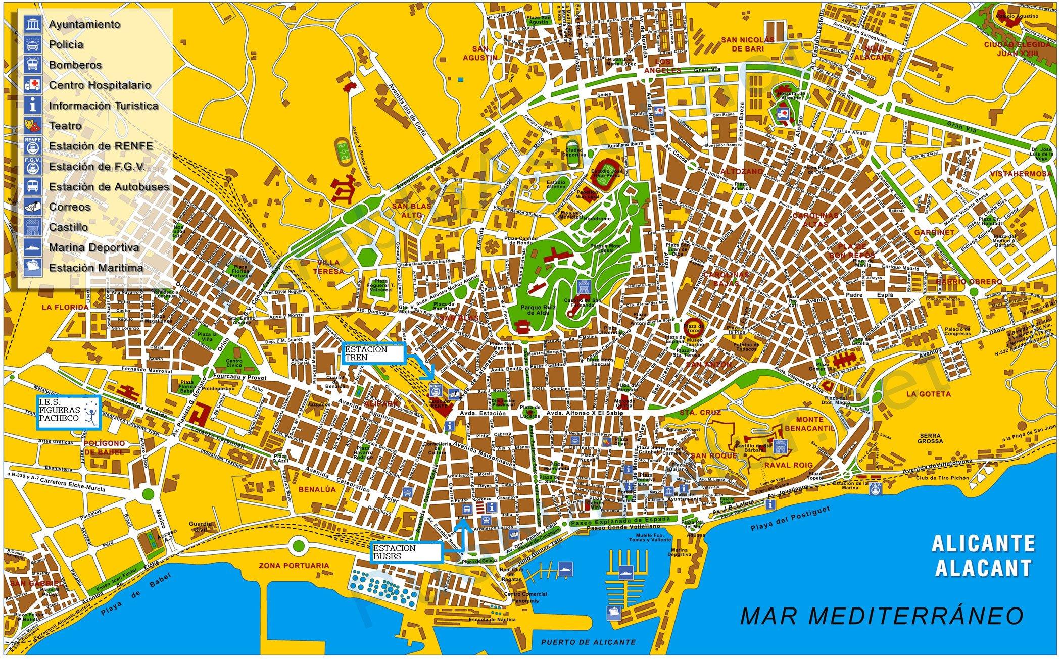 карта Аликанте