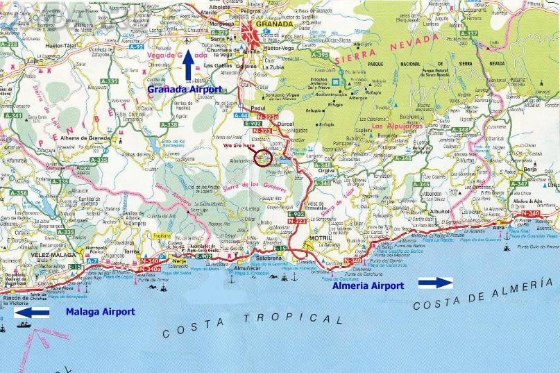 Карта Коста-Тропикаль
