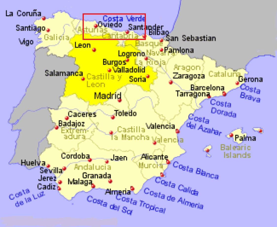 Карта Коста-Верде