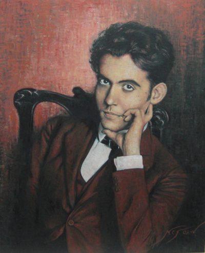 Портрет писателя Федерико Гарсия Лорки