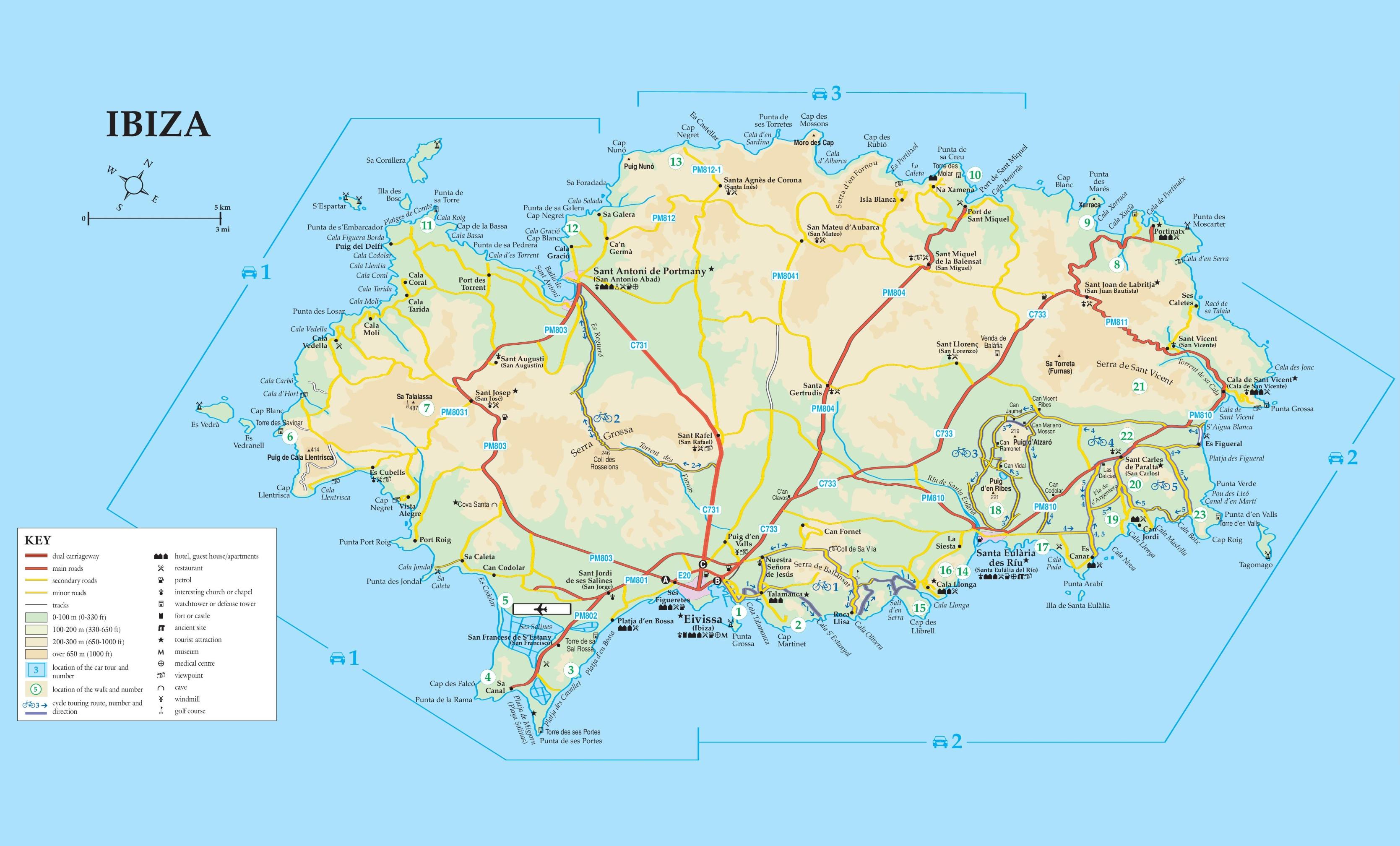 Карта Ибицы