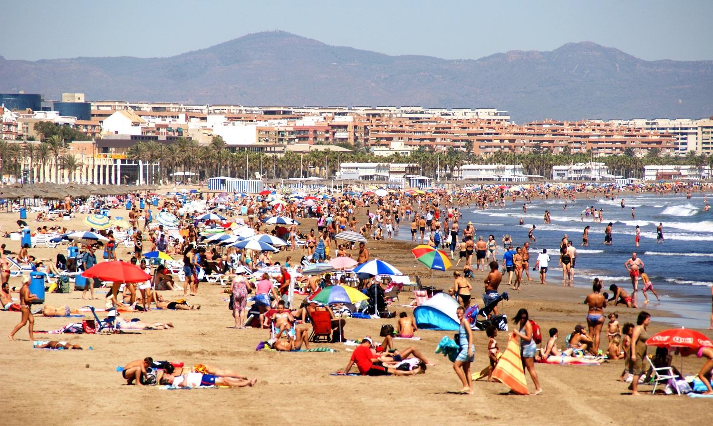 Эталонный пляж Валенсии Мальварроса