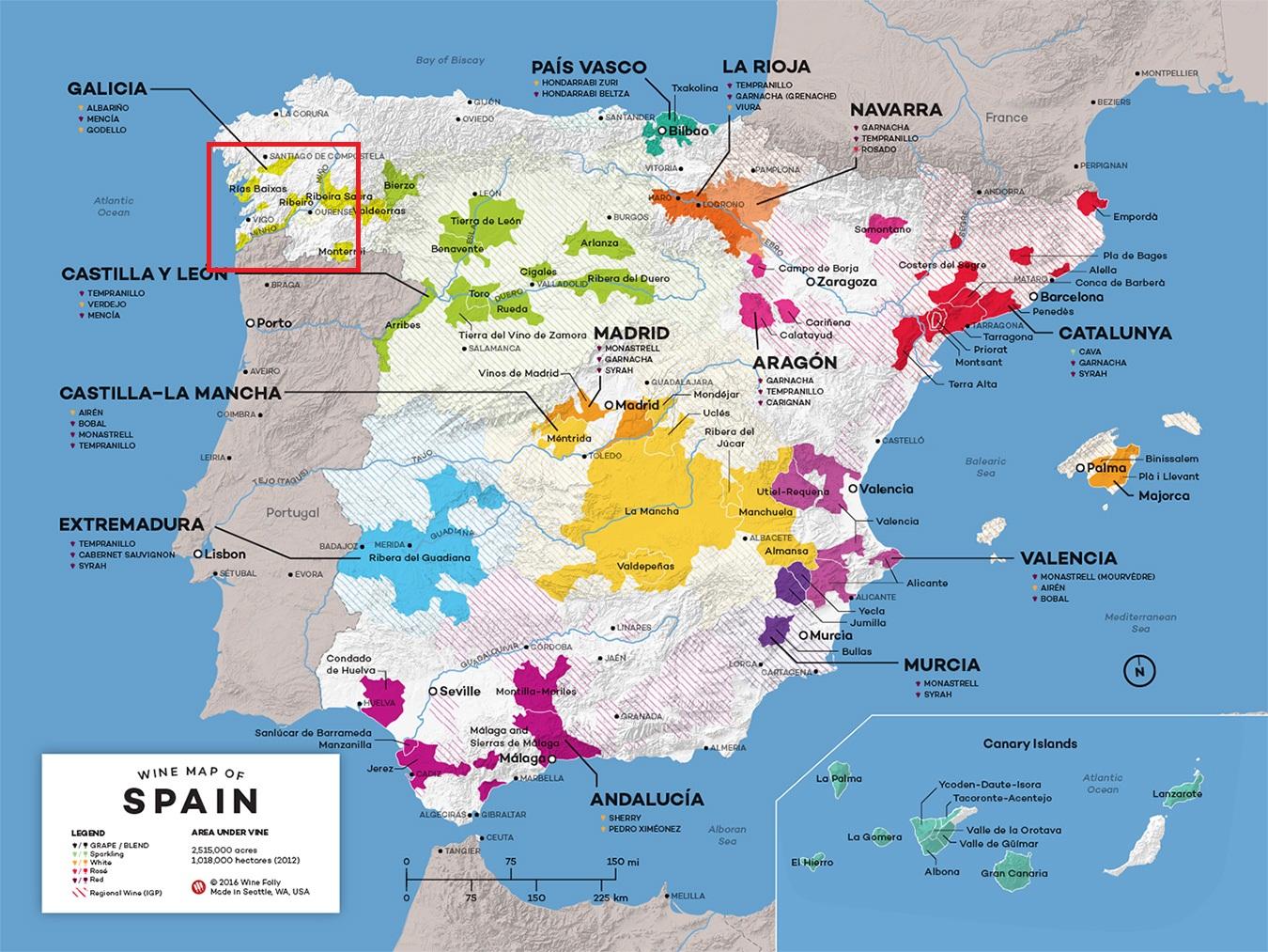 Карта Риас-Бахас