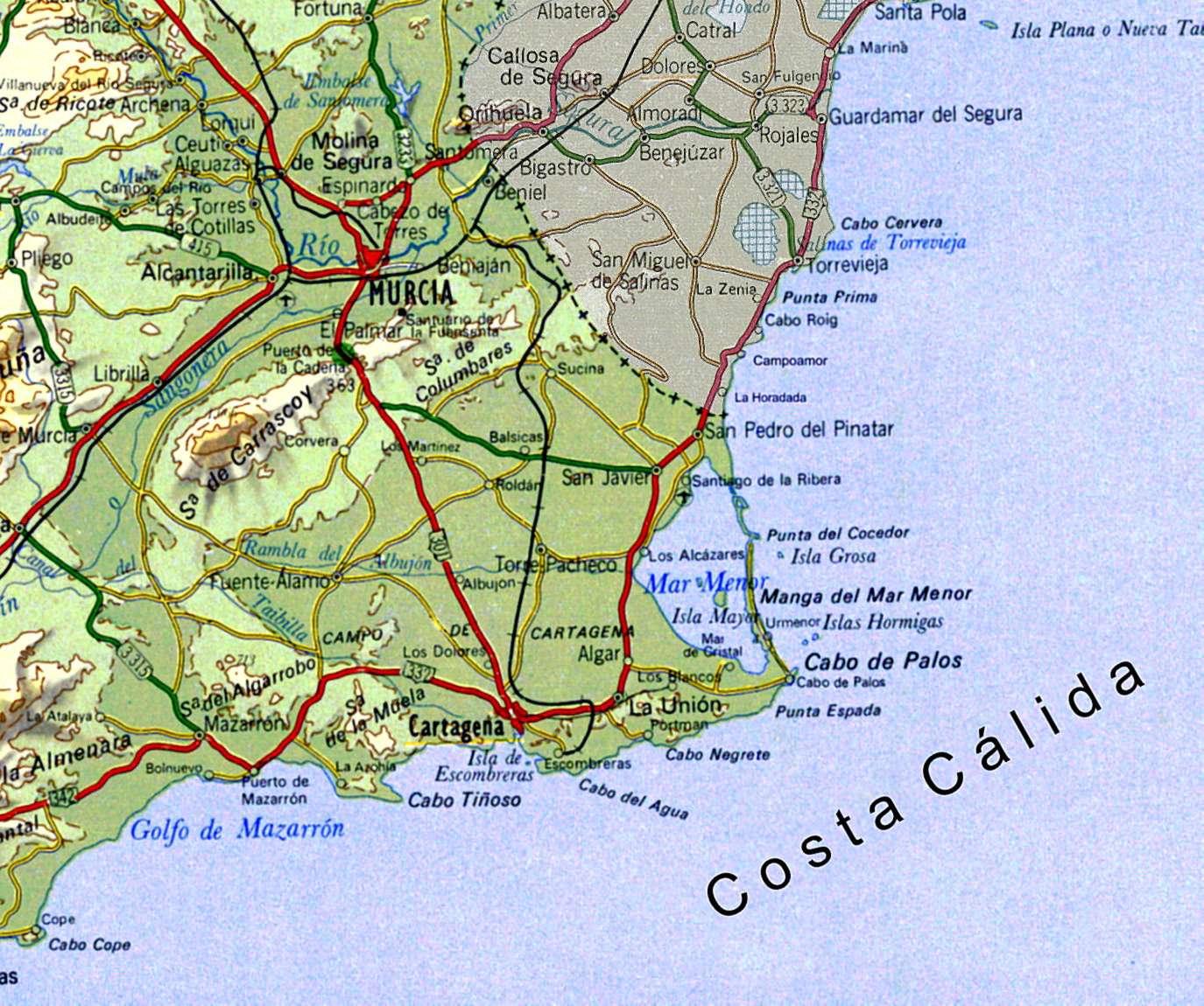 Карта Коста-Калида