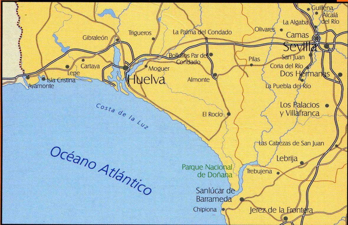 Карта Коста-де-ла-Лус