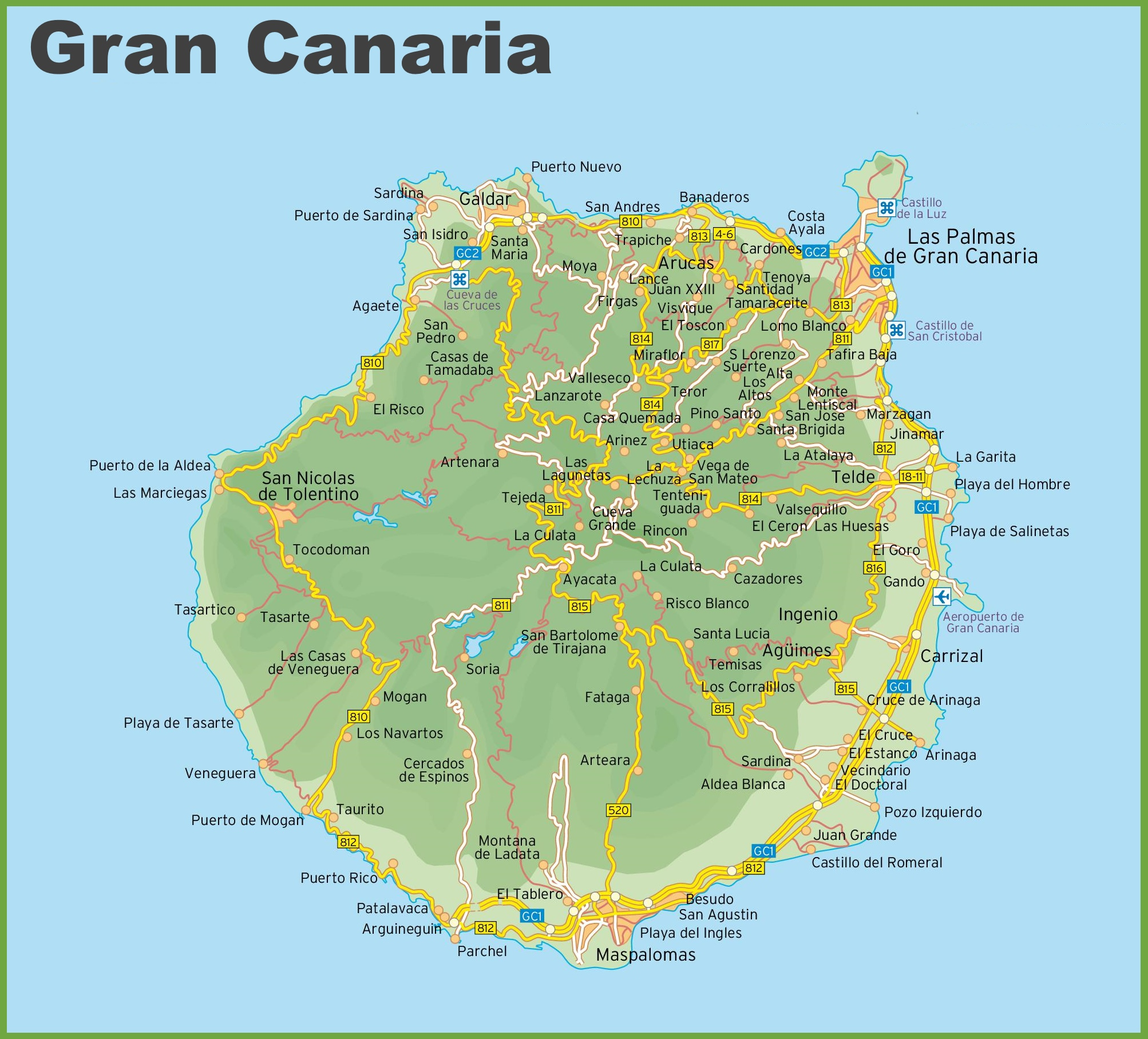 Карта Гран-Канария