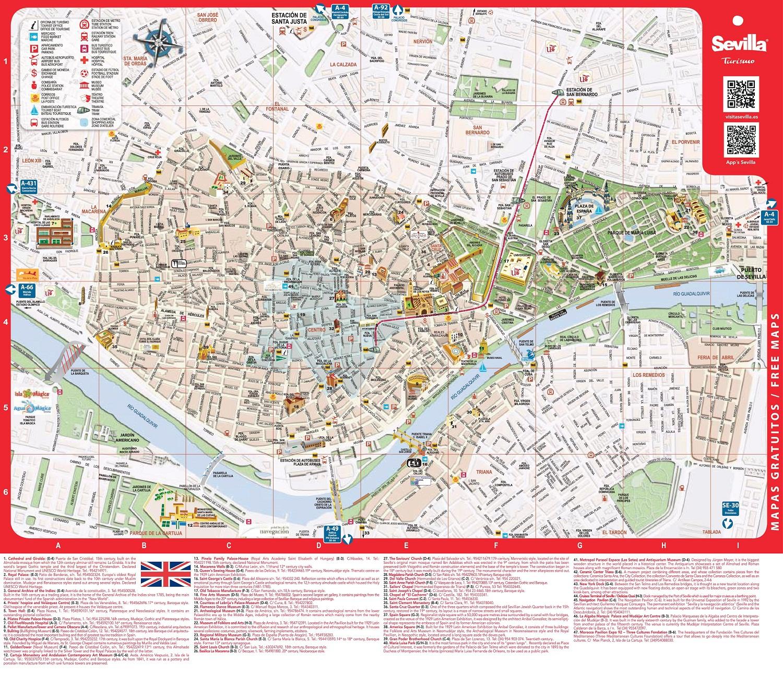 Туристическая карта Севильи