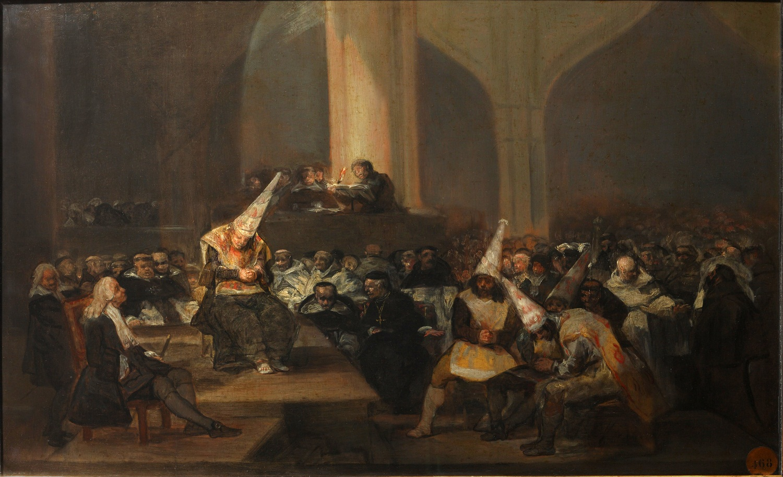 "Картина Франсиско Гойя ""Трибунал инквизиции"""