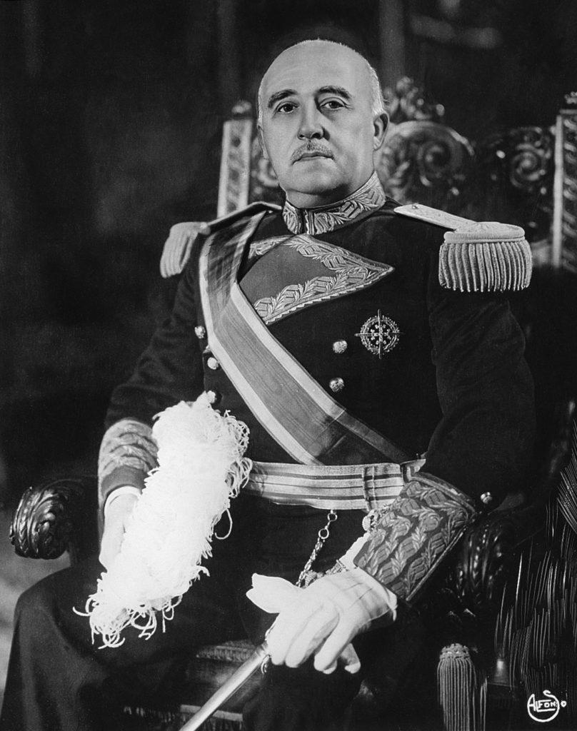 Портрет диктатора Франсиско Франко