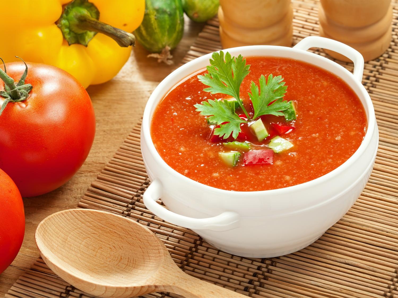 Холодный томатный суп - Гаспачо