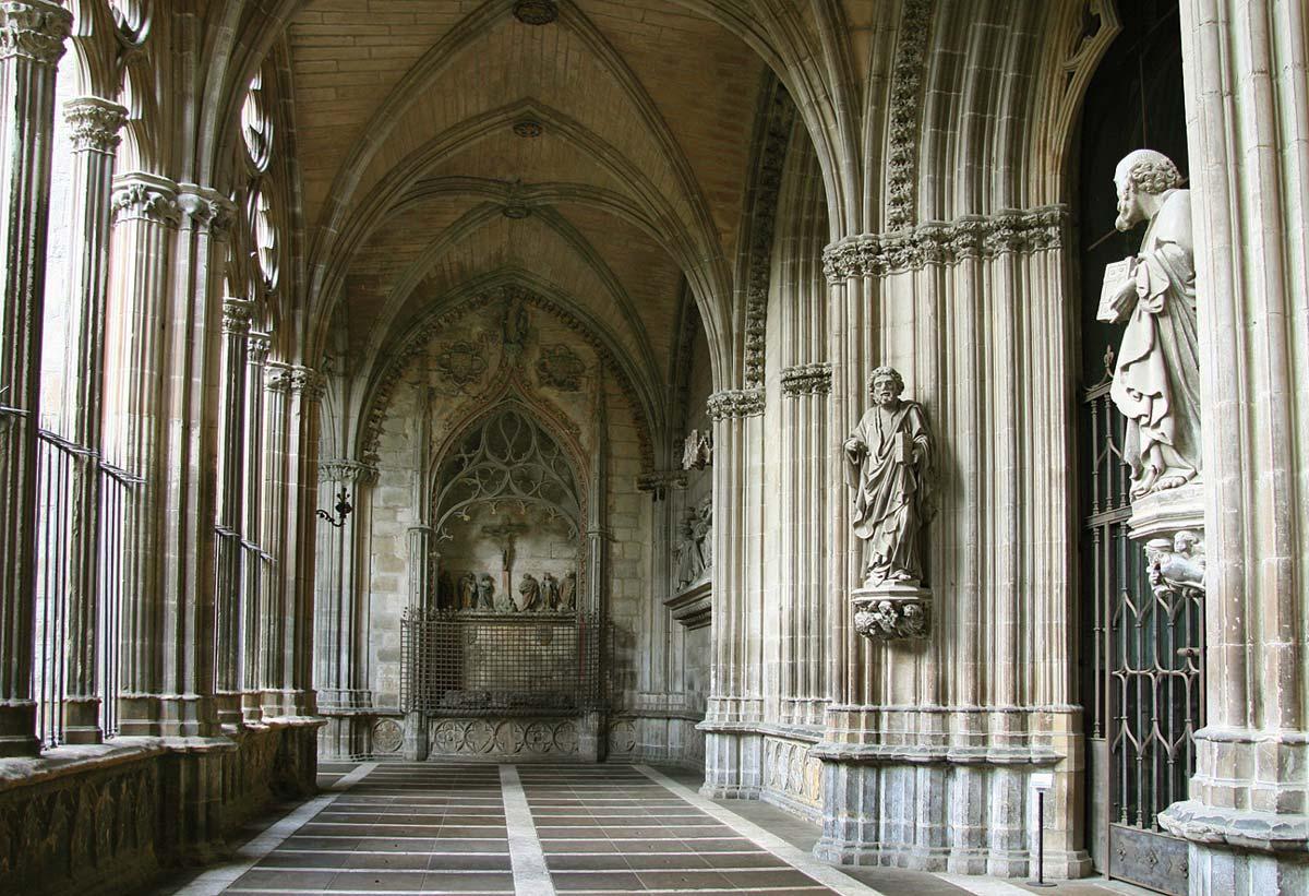 Клуатр кафедрального собора в Памплоне