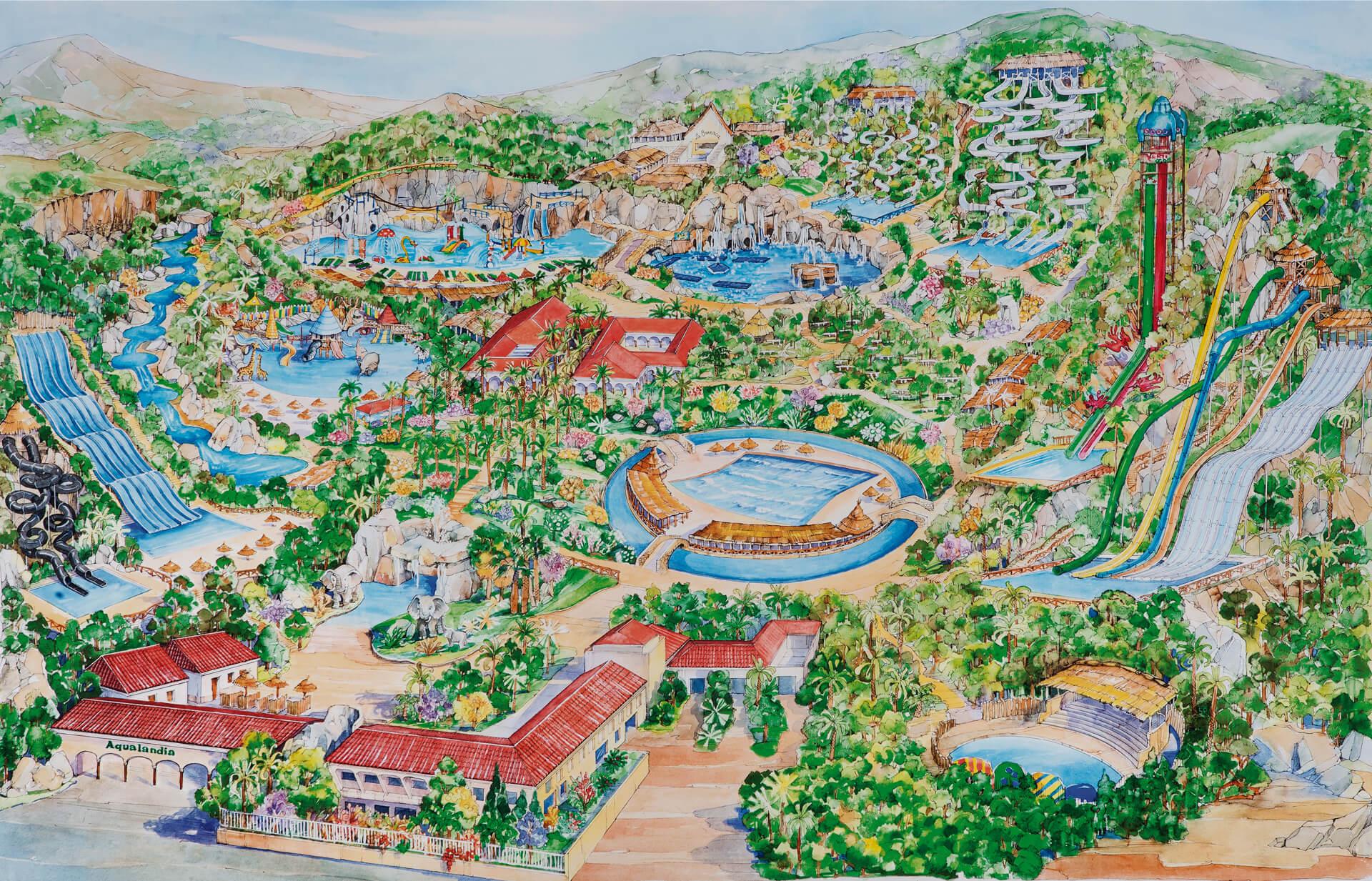 """Карта аквапарка """"Акваляндия"""""""