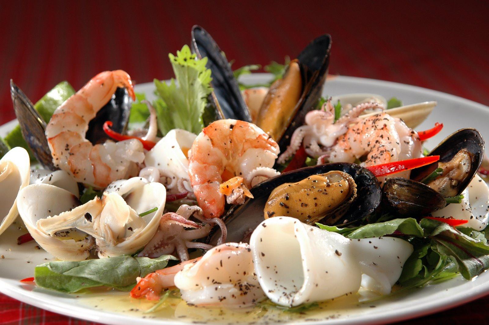 Любимая еда морепродукты