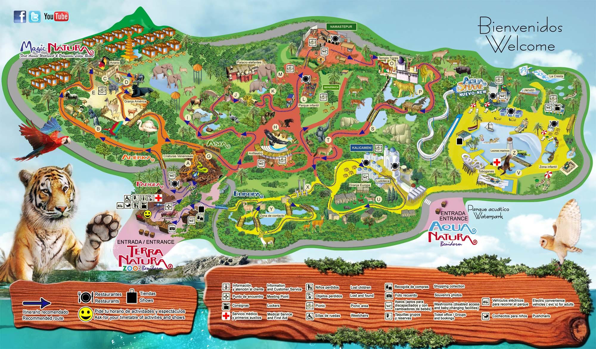Карта парка Терра-Митика