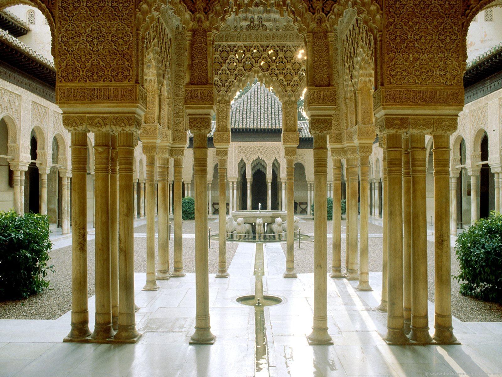 Внутренняя территория Альгамбры