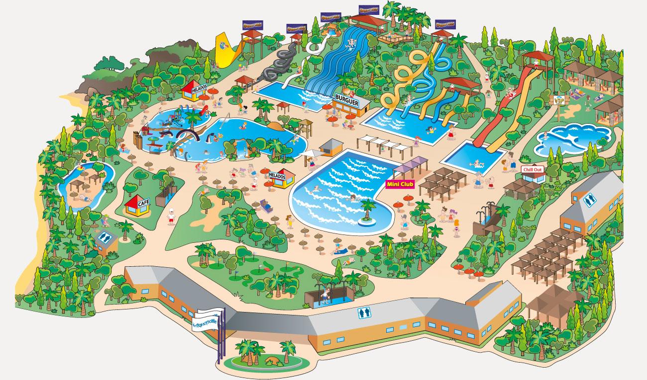 """Карта аквапарка """"Акваполис"""""""