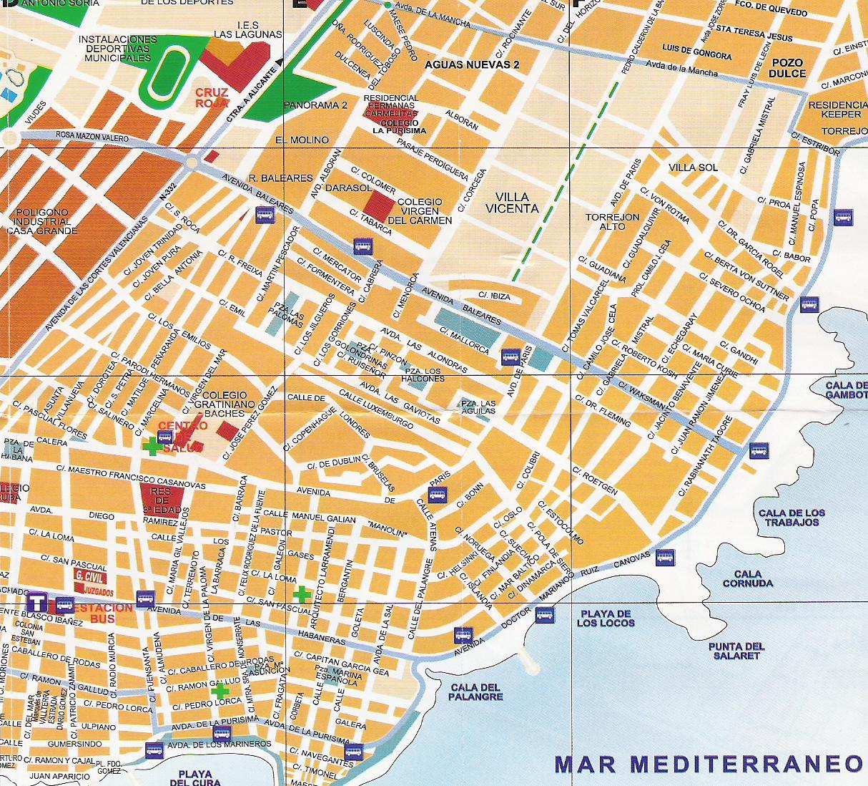 Подробная карта города Торревьеха
